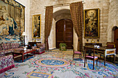 Her Majesty The Queen's Study in the Royal Palace of Almudaina, Palma, Mallorca, Balearic Islands, Spain, Europe