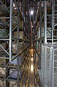 highrise warehouse of large drugstore chain Rossmann, in Burgwedel, near Hanover, Lower Saxony, Germany