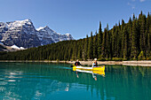 Kayaking, Moraine Lake, Banff National Park, Alberta, Canada
