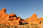 Camper, Seven Sisters-Felsen, Valley of Fire, Nevada, USA