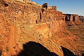 Mountain biker, White Rim Trail, Moab, Utah, USA