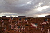 Stars and Stripes, Monument Valley, Navajo Tribal Lands, Utah, USA