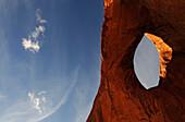 Monument Valley, Sun's Eye,  Navajo Tribal Lands, Utah, USA