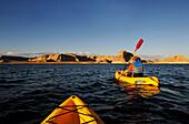 Kayaking, Lake Powell, Glen Canyon, Arizona, USA