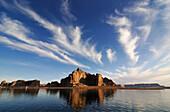 Castle Rock, Lake Powell, Glen Canyon, Arizona, USA