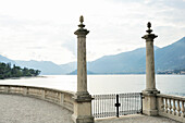 Marble columns at Lake Como, Bellagio, Lombardy, Italy