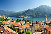 Village at western bank of Lake Como, Lombardy, Italy