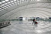 Subway station at the International Airport Beijing, Peking, China, Asia