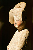 Exhibited object at Shanghai Museum, earthen figure of a women, from the Tang Dynasty, EXPO 2010 Shanghai, Shanghai, China, Asia
