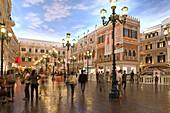Square with shops at Venetian Casino Resort, Macao, Taipa, China, Asia