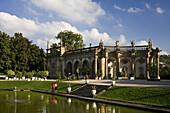 Orangerie im Schlosspark Weikersheim, Baden-Württemberg, Deutschland, Europa