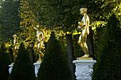 Sculptures in the Great Garden, Herrenhausen Gardens, Hanover, Lower Saxony, Germany, Europe