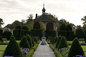 Ornamental garden at Clemenswerth palace, Sögel, Lower Saxony, Germany, Europe