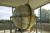 Giant Gottorf globe in the Globehouse, Neuwerkgarten, Gottorf Castle, Schleswig, Schleswig-Holstein, Germany, Europe