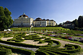 Ludwigsburg palace with garden, Ludwigsburg, Baden-Württemberg, Germany, Europe