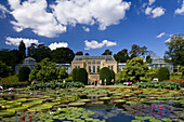 Zoological and botanical garden Wilhelma, The Moorish Garden with the largest water lilies in the world, Stuttgart, Baden-Württemberg, Germany, Europe