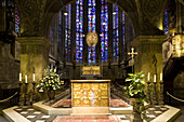 Altar in Aachen cathedral, Aachen, North Rhine-Westphalia, Germany, Europe