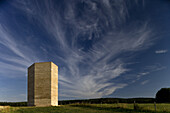 Bruder Klaus chapel in Wachendorf near Mechernich, build by architect Peter Zumthor, North Rhine-Westphalia, Germany, Europe
