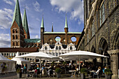 St. Mary's church, Marienkirche, Hanseatic city of Lübeck, Schleswig-Holstein, Germany, Europe, UNESCO World Cultural Heritage