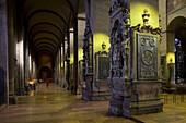 Interior view of Mainz Cathedral, Mainz, Rhineland-Palatinate, Germany, Europe