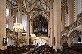 Interior view of the St. Annenkirche, Annaberg-Buchholz, Saxony, Germany, Europe