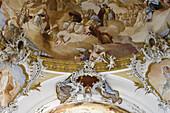 Ceiling fresco in the Zwiefalten minster, Münster Unserer Lieben Frau, Zwiefalten, Upper Swabian Baroque Route, Baden-Württemberg, Germany, Europe