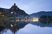 Cochem castle, Reichsburg Cochem, Cochem in the Mosel valley, Rhineland-Palatinate, Germany, Europe