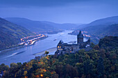 StahleckCastle, Bacharach, Rhine, Rhineland-Palatinate, Germany, Europe