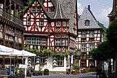 The Altes Haus inn in Bacharach on the river Rhine, Rhineland-Palatinate, Germany, Europe