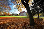 Schlosspark, Burg Hülshoff, Havixbeck, Münsterland, Nordrhein-Westfalen, Deutschland
