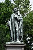 Schiller monument, Taunusanlagen, Frankfurt am Main, Hesse, Germany