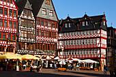 Half-timbered houses at Roemerberg, Frankfurt am Main, Hesse, Germany