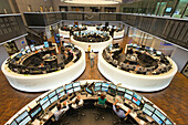 Frankfurt Stock Exchange floor, Frankfurt am Main, Hesse, Germany