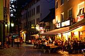 Restaurants and pubs, Alt-Sachsenhausen, Frankfurt am Main, Hesse, Germany