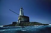 Leuchtturm, St. George Reef, 6 Meilen von Cresent City, Nordkalifornien, Kalifornien, USA