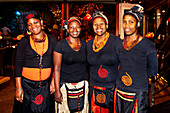 African women in traditional clothes, Cape Town, Western Cape, South Africa, Africa