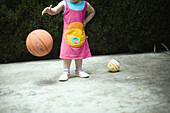 1 to 2 years, 1-2 years, 3 to 4 years, 3-4 years, Ability, Ball, Basketball, Childhood, Children, Color, Colour, Competition, Education, External, Fun, Games, Girls, Head, Horizontal, S, Toys, Without, G96-741737, agefotostock