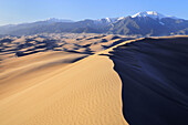 Great Sand Dunes National Park in winter. Colorado,  USA.