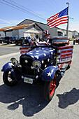 Patriotic Float in Strawberry Festival Parade Plant City Florida