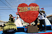 The Heart of Dixie Float in Strawberry Festival Parade Plant City Florida