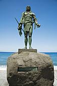 Guanche chief statue,  Candelaria. Tenerife,  Canary Islands,  Spain