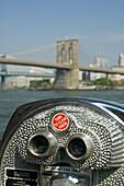 Brooklyn Bridge from Pier 17 at South Street Seaport,  Lower Manhattan,  New York,  USA,  2008