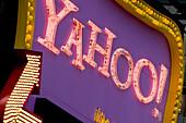 Times Square,  Yahoo neon billboard,  New York,  USA,  2008