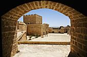 Parade ground and keep,  ´Alcazaba´ monumental complex,  Almeria. Andalucia,  Spain