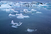 Glaciers at Jokulsarlon lagoon