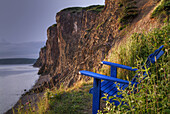 Bay of Fundy, Blue, Canada, Chair, Cliff, Cliffs, Color, Colour, Daytime, Flowers, Green, Nature, Nova Scotia, Photography, Picturesque, Rocks, scenic, Sky, Travel, Travels, Water, Wild, World locations, World travel, U38-857292, agefotostock