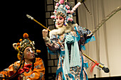 Chinese Kunqu opera performer during the show