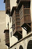 mashrabiya window in Bazaraah Wekalah 11 century AH /century 17AD,  of The Ottoman Rule Mohamed Bazaraah,  Cairo,  Egypt