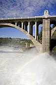 Spokane River in Major Flood,  Riverfront Park,  Spokane,  Washington State,  USA