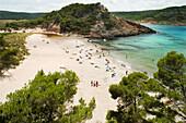Algaiarens beach La Vall Menorca Balearic islands Mediterranean Sea Spain